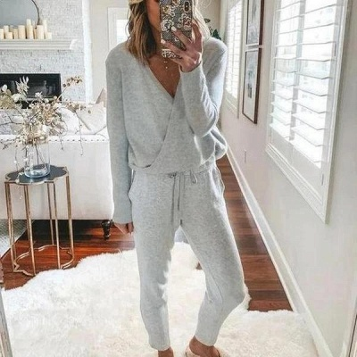Women's winter pajamas with long sleeves | Christmas pajamas cheap_1