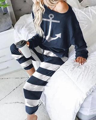 Damen Pyjama mit Leggings | Schicke Damen Schlafanzüge_2