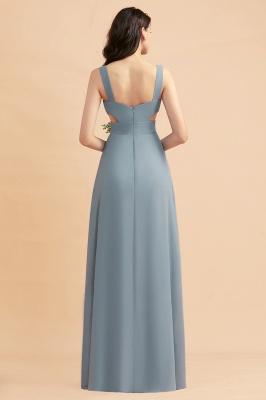 Brautjungfernkleider Lang Blau | Chiffon Kleider Für Brautjungfern Günstig_3
