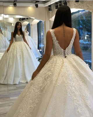 Designer Brautkleider Prinzessin | Hochzeitskleider mit Spitze_4