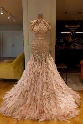 Gold Abendkleider Lang Glitzer | Extravagante Abiballkleider Online_1