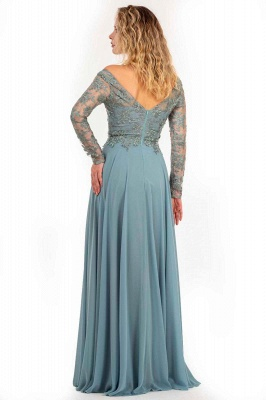Designer Mother of the Bride Dresses Long Chiffon | Evening dress with lace sleeves_2