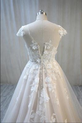 Elegante Hochzeitskleid A Linie mit Spitze | Brautmoden Online_4