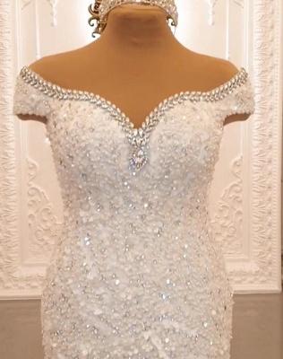 Buy luxury wedding dresses lace with sleeves mermaid wedding dress online_4