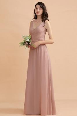 Brautjungfernkleider Lang Altrosa   Chifon Kleider Für Brautjungfern_5
