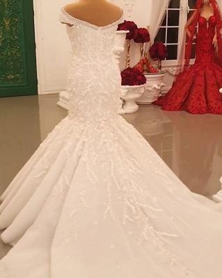 Buy luxury wedding dresses lace with sleeves mermaid wedding dress online_5