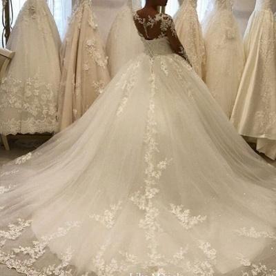 Elegante Hochzeitskleider Mit Ärmel | Brautkleid A Linie Mit Spitze_3