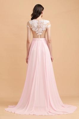 Elegante Brautjungfernkleider Lang Rosa | Günstige Hochzeitsgäste Kleider_3