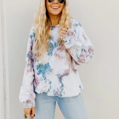 Floral pattern sweater | Sweatshirt knitted sweater women_1