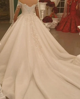 Luxury princess wedding dresses with lace bridal gowns cheap online_2