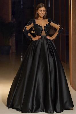 Elegante Abendkleider Lang Schwarz | Abendmoden mit Ärmel