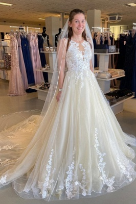 Elegante Brautkleider A Linie | Hochzeitskleider mit Spitze
