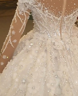 Luxury wedding dresses with long train order online wedding dresses_2