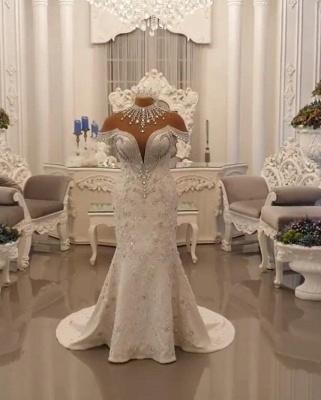Vintage Brautkleid A Linie Spitze   Hochzeitskleider Luxus Online_3