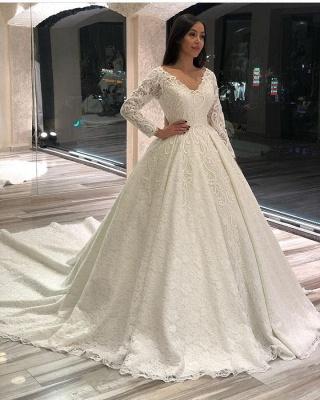 Extravagante Brautkleider Mit Ärmel | Hochzeitskleider Spitze Prinzessin_2