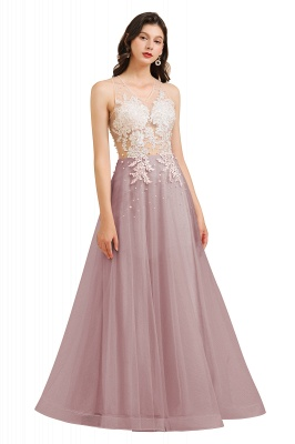 Designer evening dresses | Evening dress long pink_2
