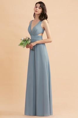 Brautjungfernkleider Lang Blau | Chiffon Kleider Für Brautjungfern Günstig_6