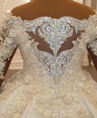 Luxury wedding dresses with sleeves | Princess wedding dress lace_2