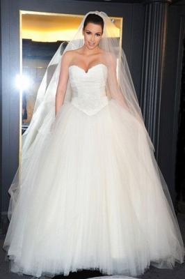 Schöne Hochzeitskleider Prinzessin | Brautkleider Lange Schleppe