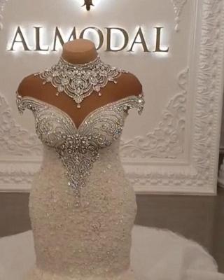 Luxus Brautkleider Spitze | Brautmoden Hochzeitskleider Meerjungfrau_2
