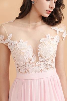 Elegante Brautjungfernkleider Lang Rosa | Günstige Hochzeitsgäste Kleider_8