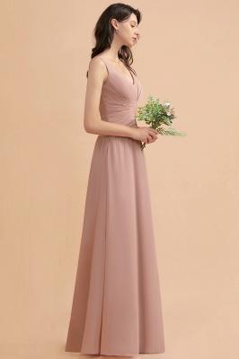 Brautjungfernkleider Lang Altrosa   Chifon Kleider Für Brautjungfern_6