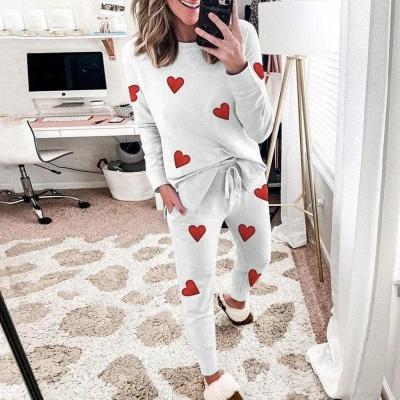 Schlafanzug Damen Weiß | Winter Pyjama Damen_3
