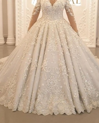 Beautiful wedding dresses princess | Wedding dress with lace_2