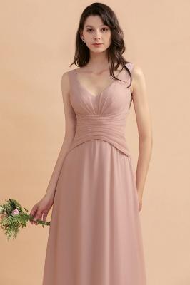 Brautjungfernkleider Lang Altrosa   Chifon Kleider Für Brautjungfern_9