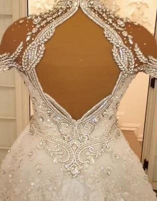 Vintage Brautkleid A Linie Spitze   Hochzeitskleider Luxus Online_5
