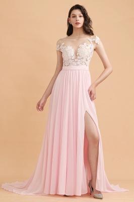 Elegante Brautjungfernkleider Lang Rosa | Günstige Hochzeitsgäste Kleider_4