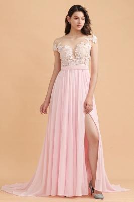 Elegante Brautjungfernkleider Lang Rosa | Günstige Hochzeitsgäste Kleider_1