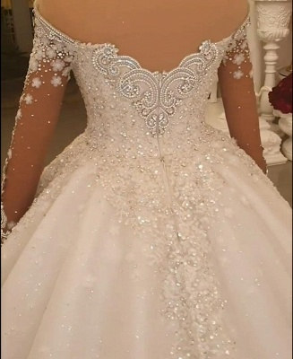 Luxury princess wedding dresses with lace bridal gowns cheap online_3