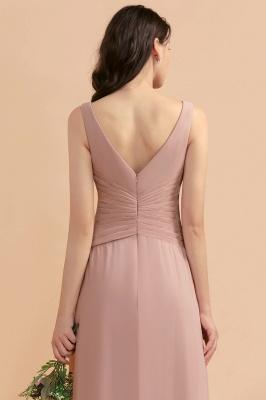 Brautjungfernkleider Lang Altrosa   Chifon Kleider Für Brautjungfern_10