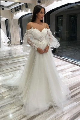 Simple wedding dresses with sleeves | Wedding Dresses Lace Online_1