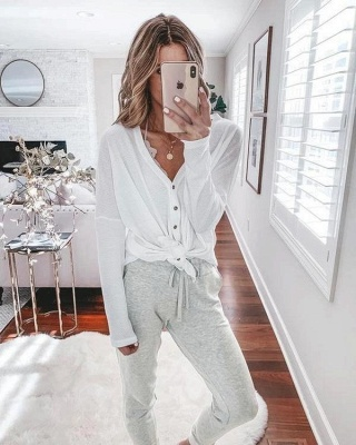 Women's winter pajamas with long sleeves | Christmas pajamas cheap_3