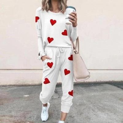 Schlafanzug Damen Weiß | Winter Pyjama Damen_4