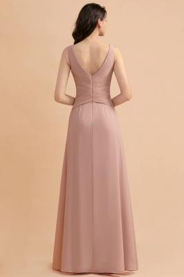 Brautjungfernkleider Lang Altrosa   Chifon Kleider Für Brautjungfern_3