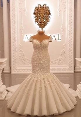 Buy luxury wedding dresses lace with sleeves mermaid wedding dress online_3