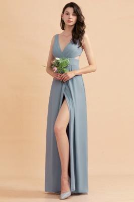 Brautjungfernkleider Lang Blau | Chiffon Kleider Für Brautjungfern Günstig_7