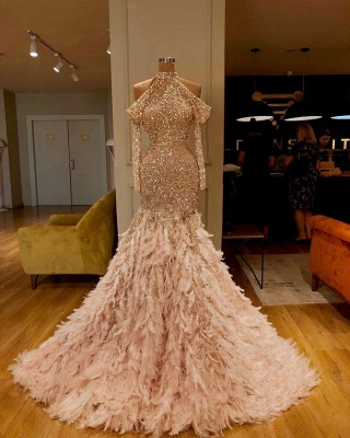 Evening dresses long with sleeves | Extravagant evening wear for women_2