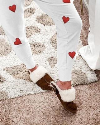 Schlafanzug Damen Weiß | Winter Pyjama Damen_2