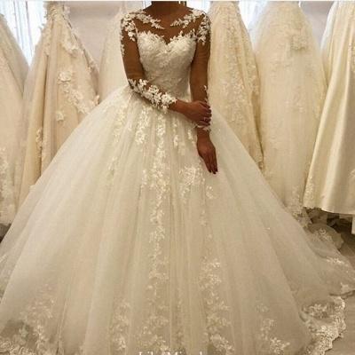 Elegante Hochzeitskleider Mit Ärmel | Brautkleid A Linie Mit Spitze_2