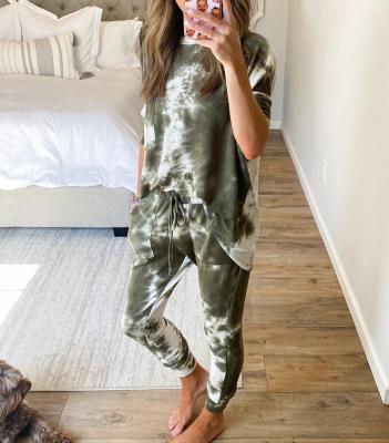 Pyjamahose Damen Print | Schlafanzug Damen Leopardenmuster_3