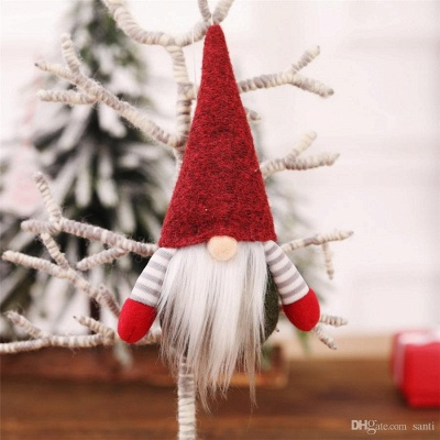 10 pieces Christmas tree decorations red Unusual Christmas tree decorations_2