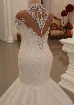 Luxus Brautkleider Spitze | Brautmoden Hochzeitskleider Meerjungfrau_3