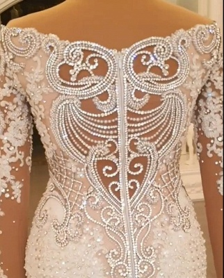 Designer Wedding Dresses A Line | Lace wedding dresses with sleeves_4