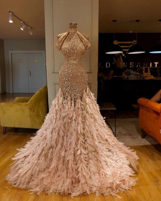 Gold Abendkleider Lang Glitzer | Extravagante Abiballkleider Online_2