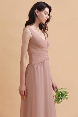 Brautjungfernkleider Lang Altrosa   Chifon Kleider Für Brautjungfern_8