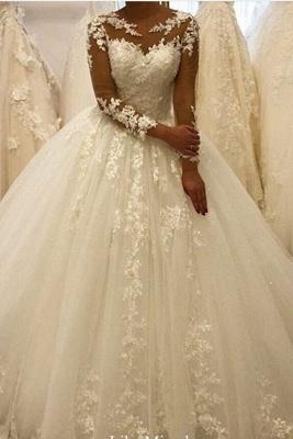 Elegante Hochzeitskleider Mit Ärmel | Brautkleid A Linie Mit Spitze